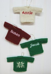 embroidered sweater ornaments