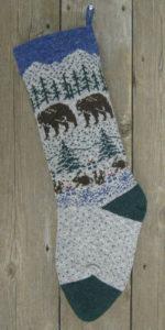 Nature Bear Christmas Stocking