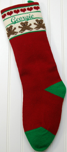 Personalized Embroidered Knit Christmas Stocking