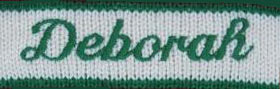 Script style embroidery