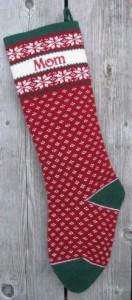Personlized Christmas Stocking Nordic Design