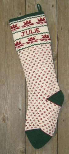 Nordic Style Tulip Design Wool Knit Christmas Stocking