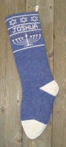 Hanukkah stockings blue
