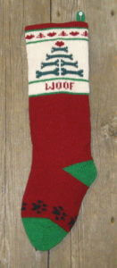 Dog Stocking in Cranberry