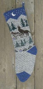 wolf nataure style christmas stocking