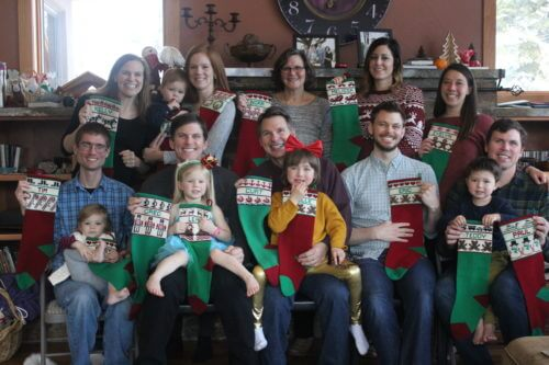 Family with stockings