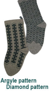 Argyle stockings for Christmas