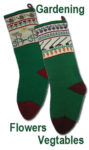 Flower and Vegetable farmers Christmas Stockings